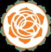 Orange Flower Logo Green