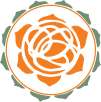 Orange Flower Logo Green
